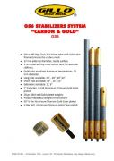 Gillo GS6 Short Rod Carbon & Gold - IN STOCK
